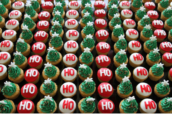 Ho Ho Ho & Christmas Tree Cupcakes