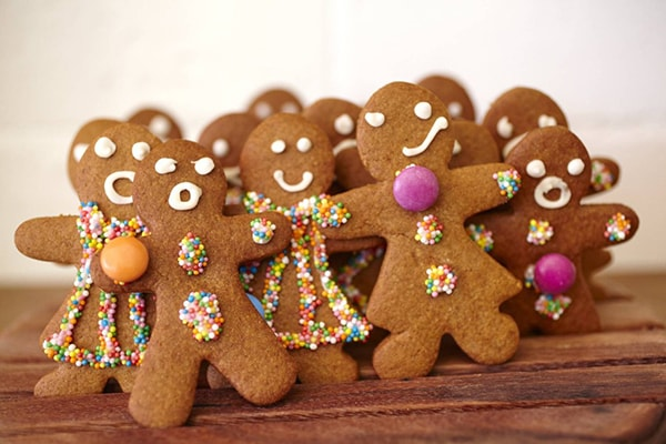 Homemade gingerbread men and gingerbread women fresh every day