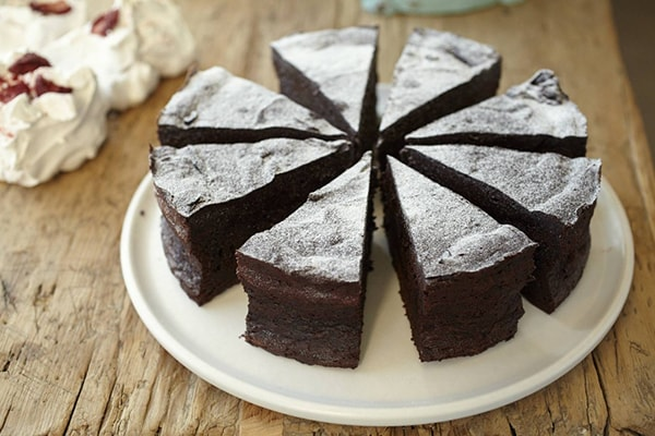 Award winning DD flourless chocolate cake