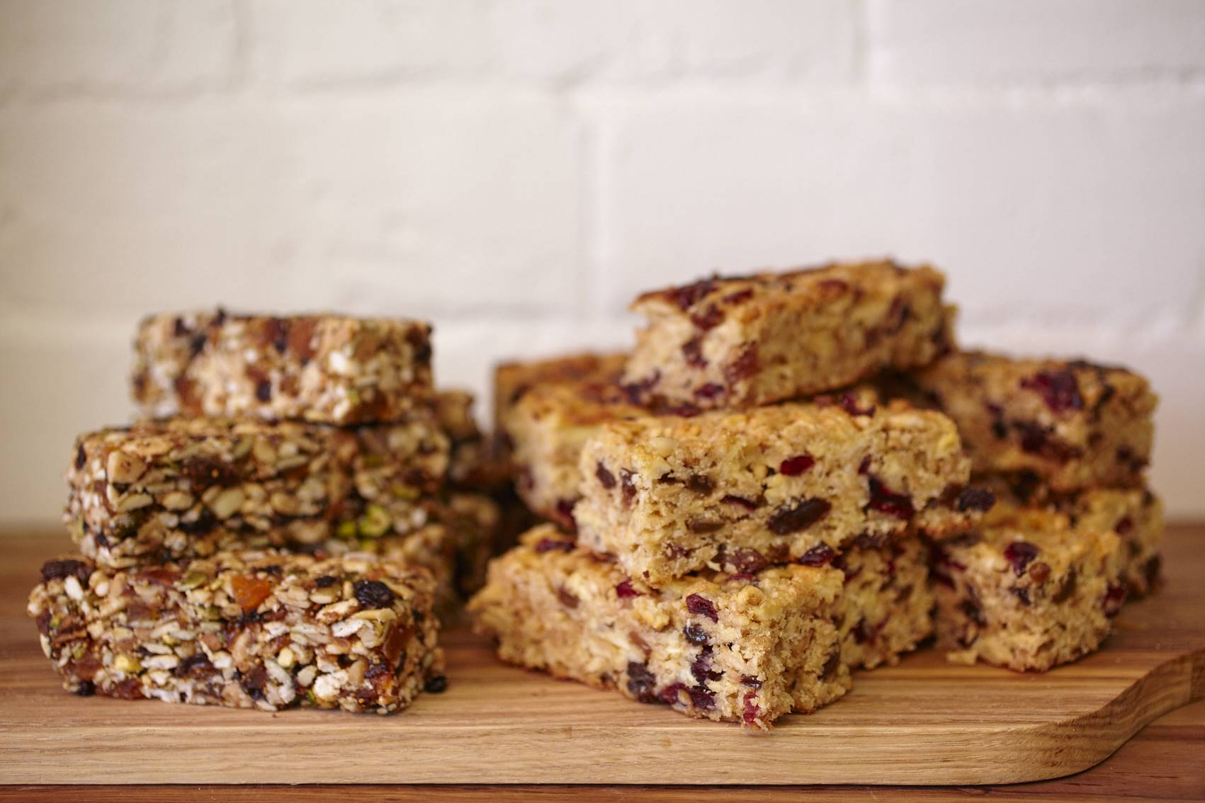 Healthy bars with options including gluten free, sugar free, vegan, dairy free and low sugar.