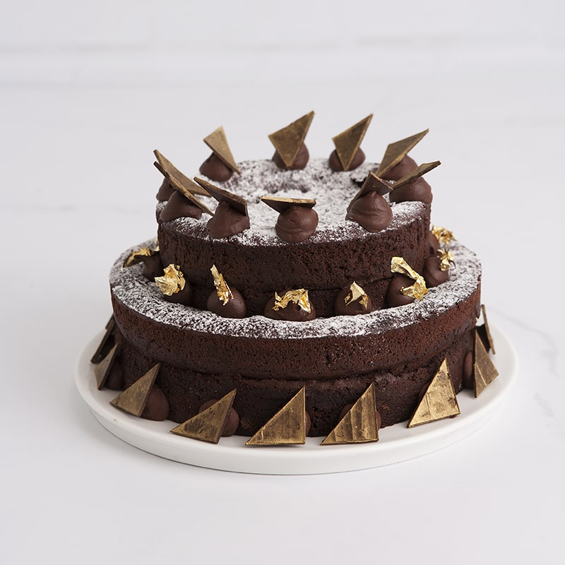 Celebration Cakes by Mrs Jones The Baker - The Barry: Two tier flourless chocolate cake