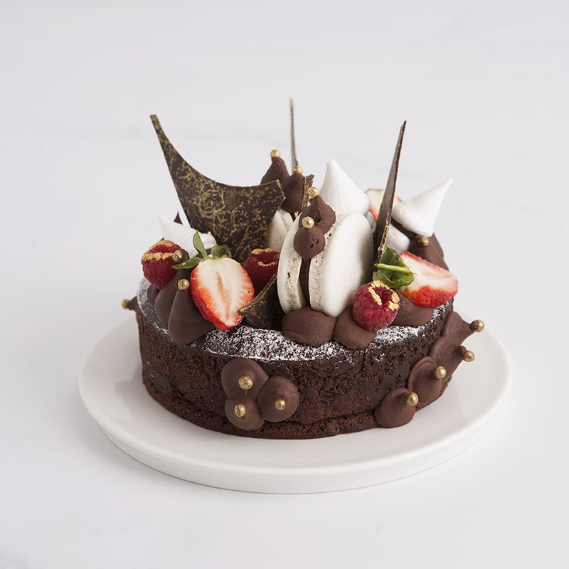 Celebration Cakes by Mrs Jones The Baker - The Sophia: Gluten Free Flourless chocolate cake with naked decoration