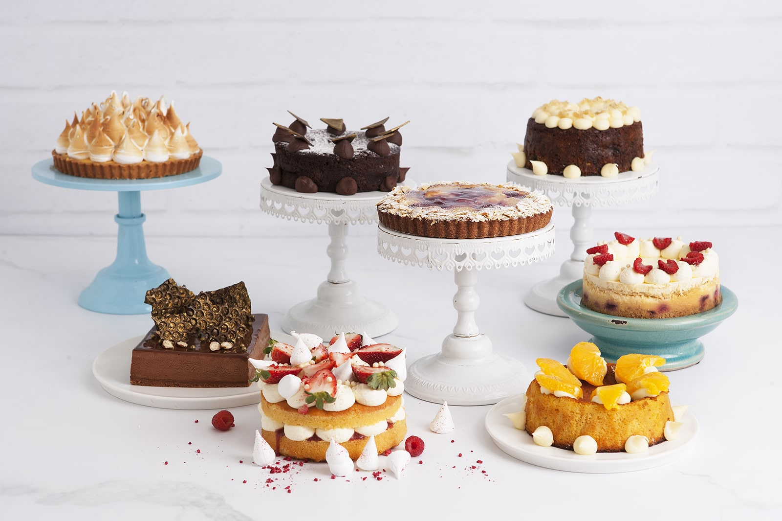 We've got the sweets sorted for your next dinner party with our selection of eight delectable whole cakes and tarts.